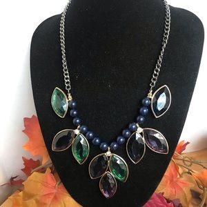 Charming Charlie Jeweled Statement Necklace